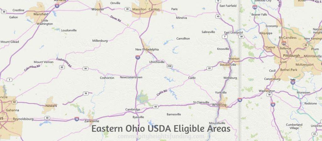 Eastern Ohio USDA Eligible Areas
