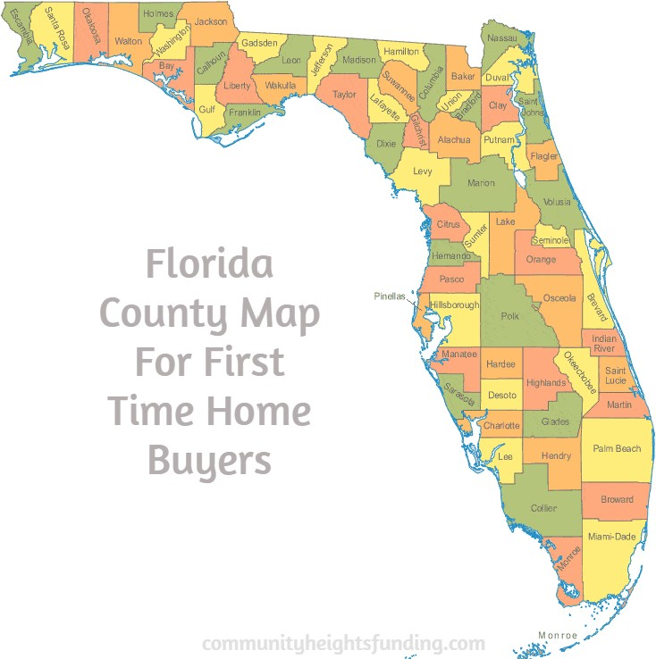 Florida County Map