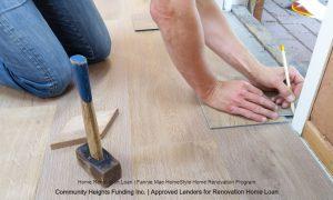 HomeStyle Home Renovation Loan Carpenter at work
