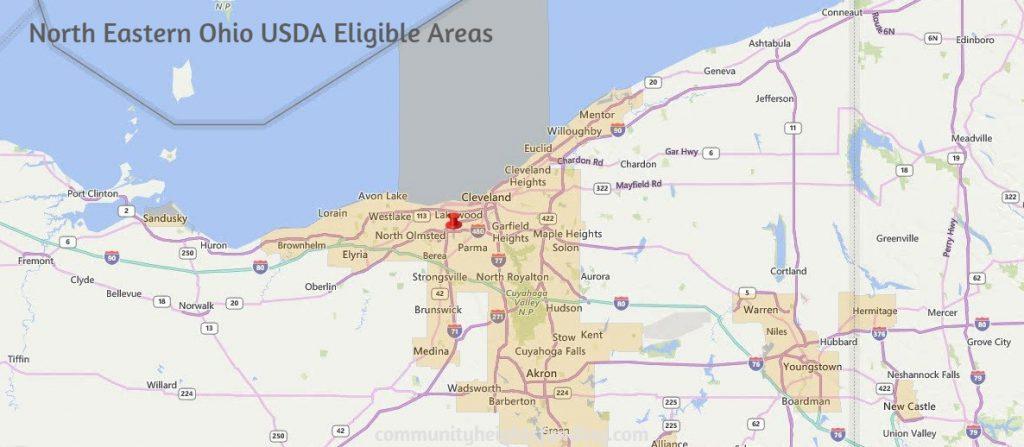 North Eastern Ohio USDA Eligible Areas