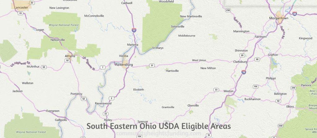 South Eastern Ohio USDA Eligible Areas