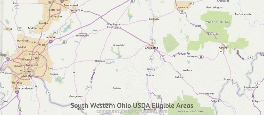 South Western Ohio USDA Eligible Areas