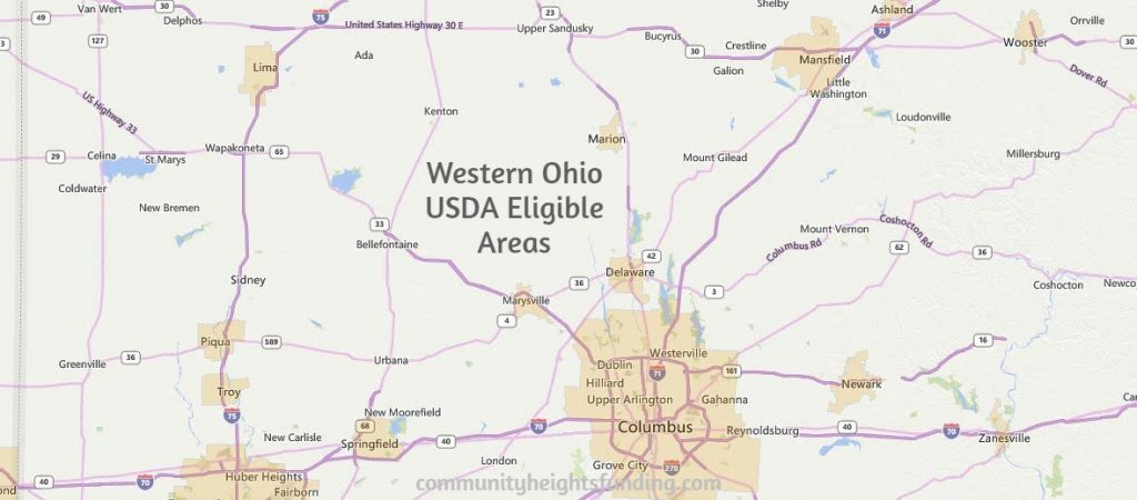 Western Ohio USDA Eligible Areas